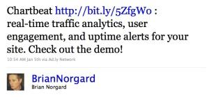 ad.ly tweet ad - brian norgard